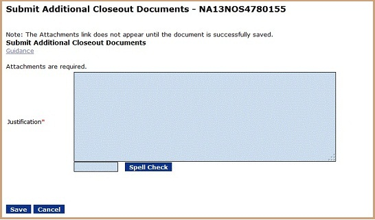 Submit Closeout Documents