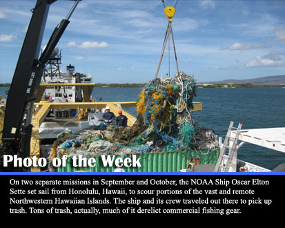 On two separate missions in September and October, the NOAA Ship Oscar Elton Sette set sail from Honolulu, Hawaii, to scour portions of the vast and remote Northwestern Hawaiian Islands. The ship and its crew traveled out there to pick up trash. Tons of trash, actually, much of it derelict commercial fishing gear.