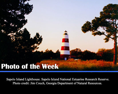 Sapelo Island Lighthouse. Sapelo Island National Estuarine Research Reserve, Photot redit: Jim Couch, Georgia Department of National Resources.